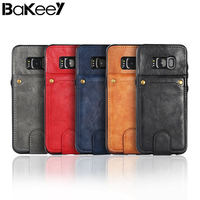 Luxury Bakeey Multi Function Detachable Card Slot Stand PU And Soft Silicone TPU Case For Samsung