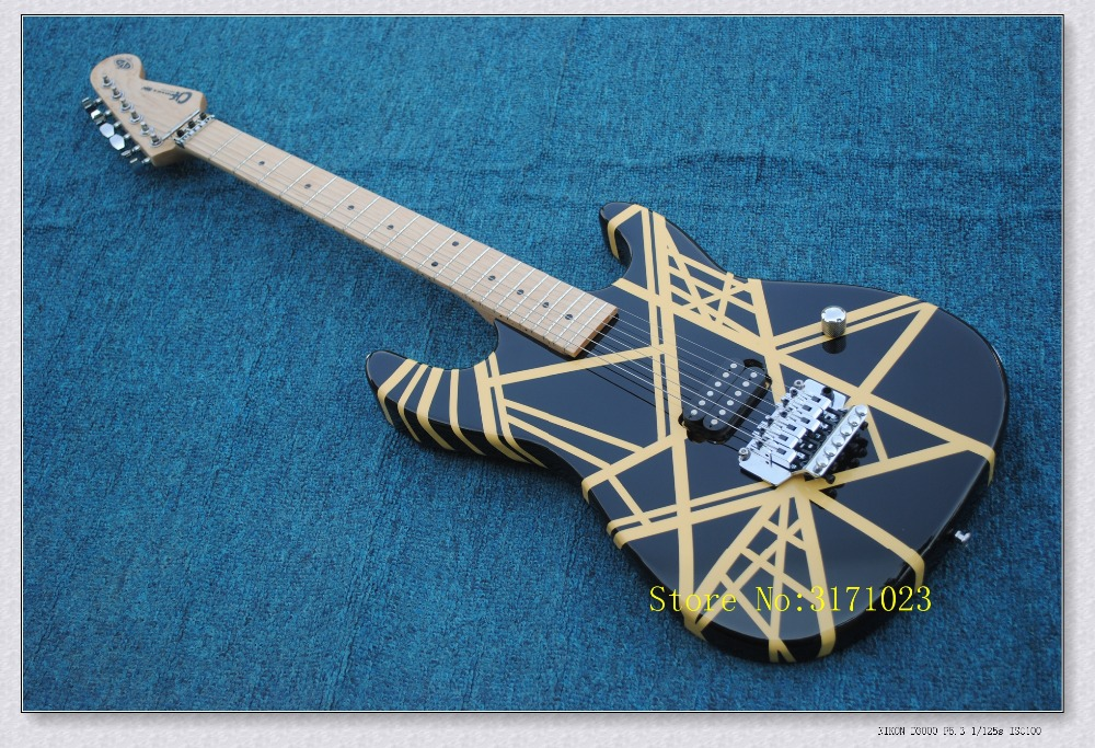 2017 new store factory custom solid 5150 EVH signature guitar black 6 string kramel electric guitar musical instruments shop