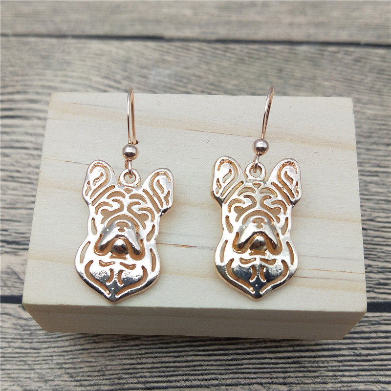 New French Bulldog Drop Earrings Trendy Style French Bulldog Dangle Earrings Fashion Pet Dog Earrings Women Jewellery