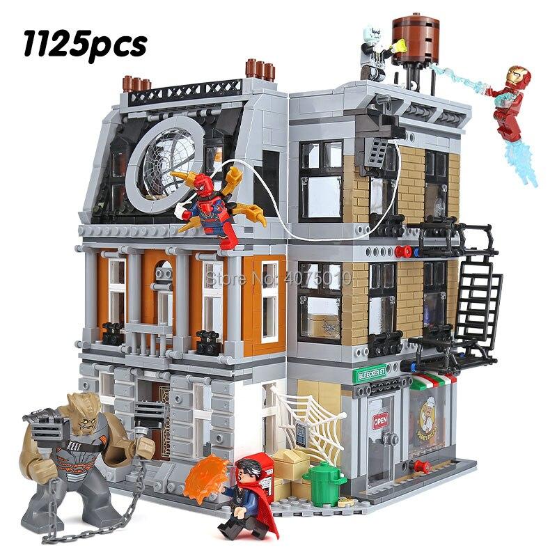 Legoeinglys Marvel Avengers Super Héros Infinity Guerre Saint Des Saints Confrontation spider man, Iron Man, Médecin Étrange 76108 blocs