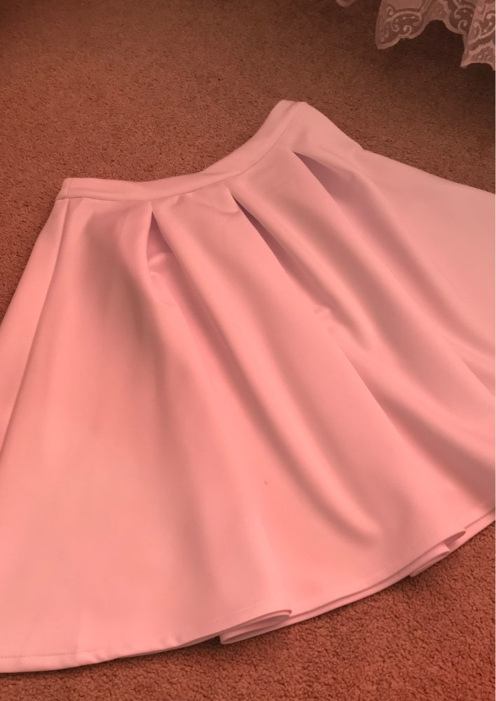 Zipper White Women A Line High Waist Slim Basic Pleat Ladies Elegant Party Evening Midi Pleated Skirt Female photo review