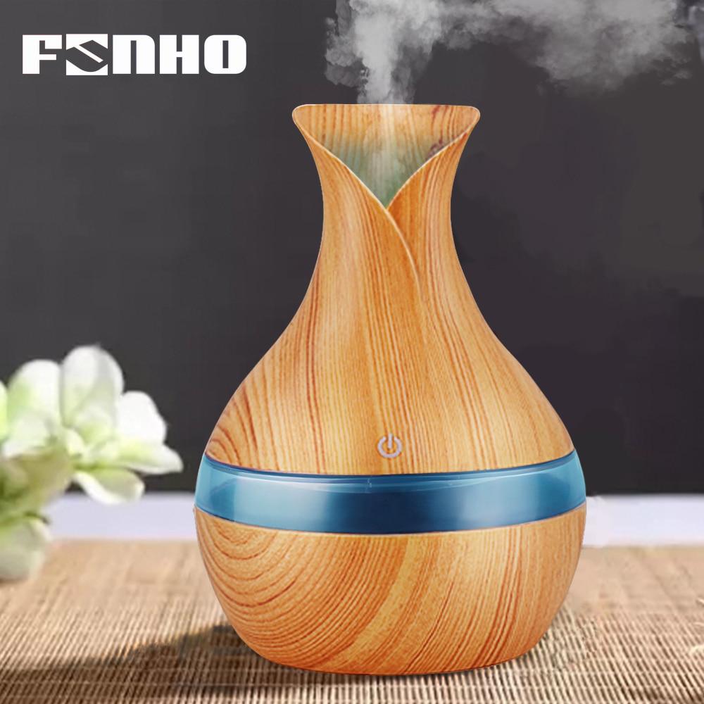 FUNHO 300 ml Humidificateur D'air Diffuseur D'huile Essentielle D'aromathérapie Veilleuse Vapeur Ultrasonique de Brouillard Brumisateur Pour La Maison 066