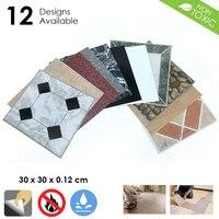 Arrowzoom 30 x 30 x 0.12 cm Self Adhesive PVC Vinyl Floor Tiles 3D Pattern Water Proof Wall Sticker Home Decor KK1175