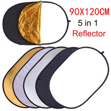 цены 90x120CM 5 IN ONE Photo Studio Photo Oval Reflector Photography Reflector Collapsible Portable Photo Accessories With Carry Bag
