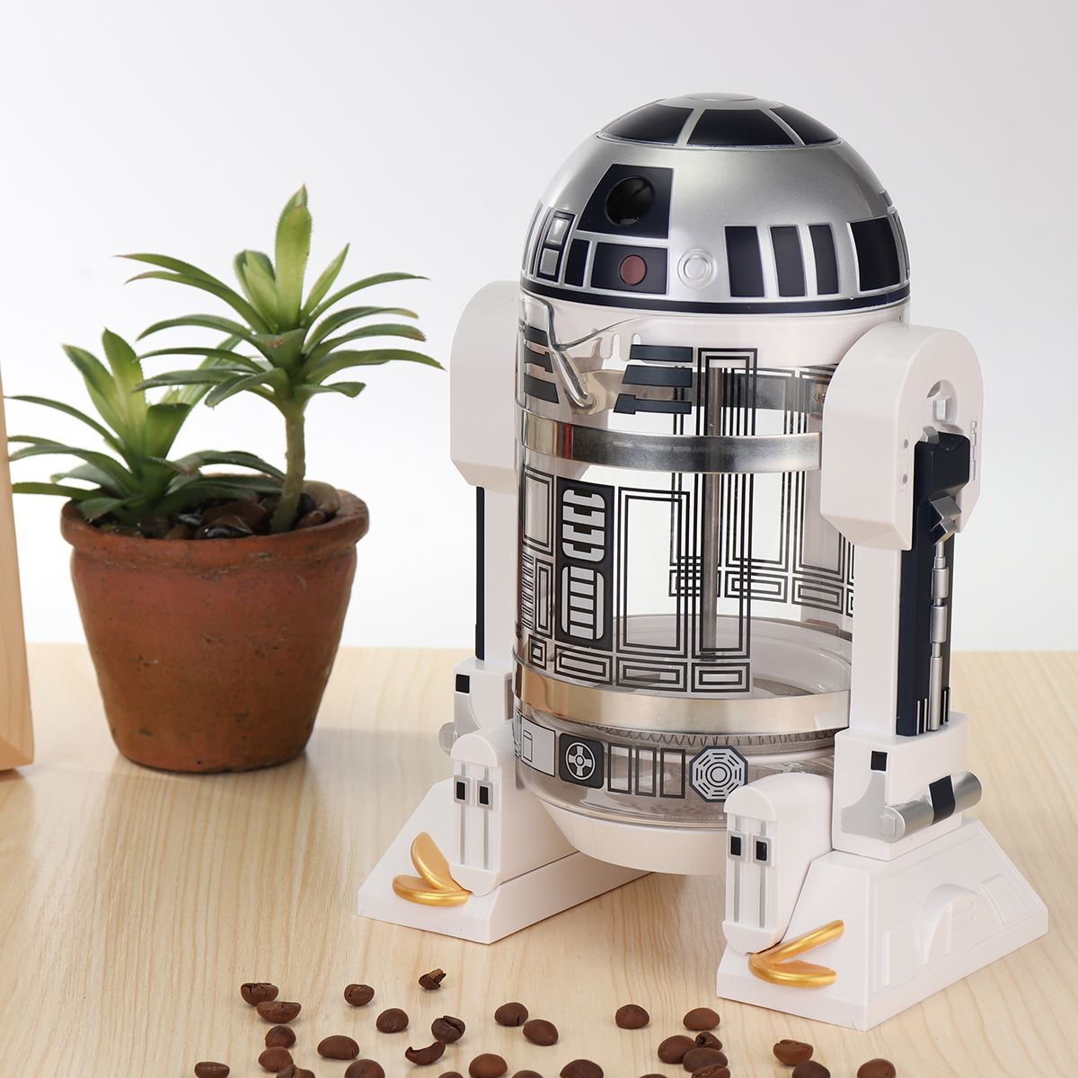 1Pcs french press coffee pot Robot drinkware 960ml silicate Detachable Coffee Maker POT