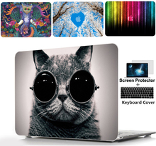 Color printing Hard Shell Case Keyboard cover For Alppe Macbook Pro 13 15 Touch Bar Air 11 Retina 12 inch