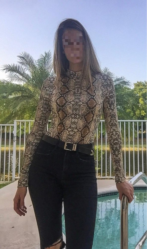 Snake Skin Turtleneck Long Sleeve Bodysuit Sexy Bodycon Fashion Romper Womens Jumpsuit Overall Knitted Combinaison photo review