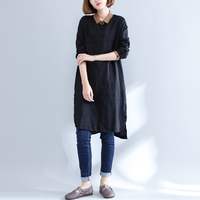 ZANZEA Fashion Women Long Shirts Irregular Hem Casual Splice Autumn Blusas Single Breasted Turn Down Collar