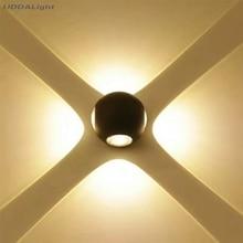 100*75MM black white round waterproof led wall lamp 3w 6w 9w 12w wall light 1/2/3/4side lighting 30% off