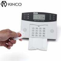 KINCO LCD/GSM אזעקה למניעת גניבות קול אינטליגנטי שליטת מכשירי חשמל לבית מעורר בטוח באופן אוטומטי פעמון אלחוטי מרחוק