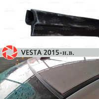 Deflectores de parabrisas para Lada Vesta 2015-2019 protección de sello de parabrisas aerodinámica lluvia coche cubierta de diseño