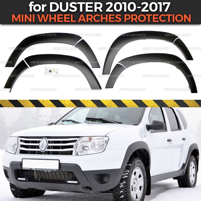 Wheel arches for Renault Dacia Duster 2010 2017 extensions fenders 1 set 8p plastic ABS protection