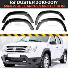 Колесные арки для Renault / Dacia Duster 2010 2017, удлинители, кранцы, 1 комплект/8p, пластиковые ABS защитные крышки для отделки, Стайлинг автомобиля