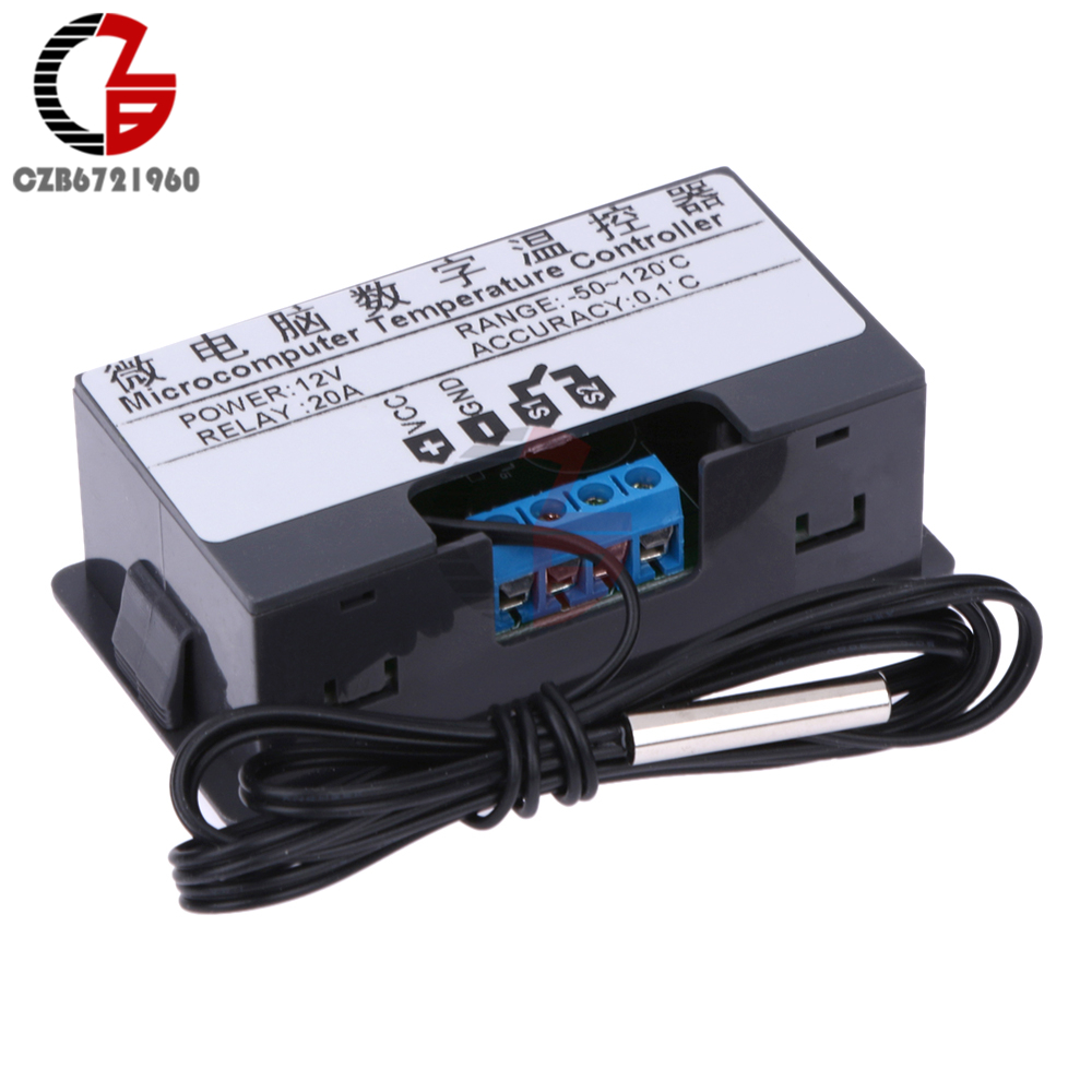 UTB82g0ghXfJXKJkSamHq6zLyVXaS DC 12V 24V 110V 220V AC 20A LED Digital Temperature Controller Thermostat Thermometer Temperature Control Switch Sensor Meter