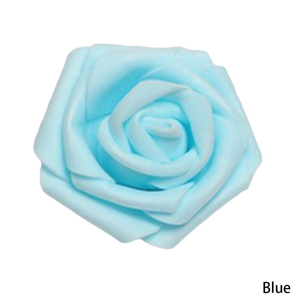 100 PCS/lot simulation rose in the first five layer PE foam the indispensable materials of red rose flower diameter of 6 cm
