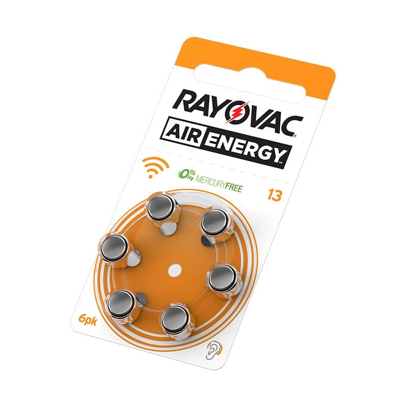 60 PCS Rayovac Air Energy Hearing Aid Batteries A13 13A 13 P13 PR48 Free Shipping! Zinc Air Hearing Aid Battery Brand стоимость