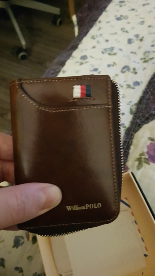 WILLIAMPOLO  Fashion ID Card Holder 100% Real Leather Zipper Wallet for Credit Cards Card Case PL185128 photo review