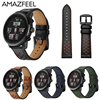 Band For Original Xiaomi Huami Amazfit Strap Leather Amazfit Pace 2 Genuine Leather Watch Strap Amazfit