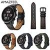 Band For Original Xiaomi Huami Amazfit Strap Leather Amazfit Pace 2 Genuine Leather Watch Strap Amazfit
