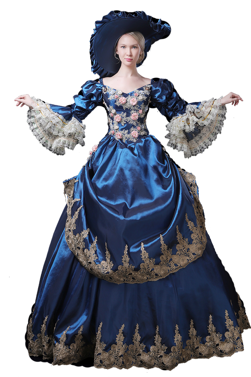 High end Court Rococo Baroque Marie Antoinette Ball Dresses 18th Century Renaissance Historical Period Dress Gown