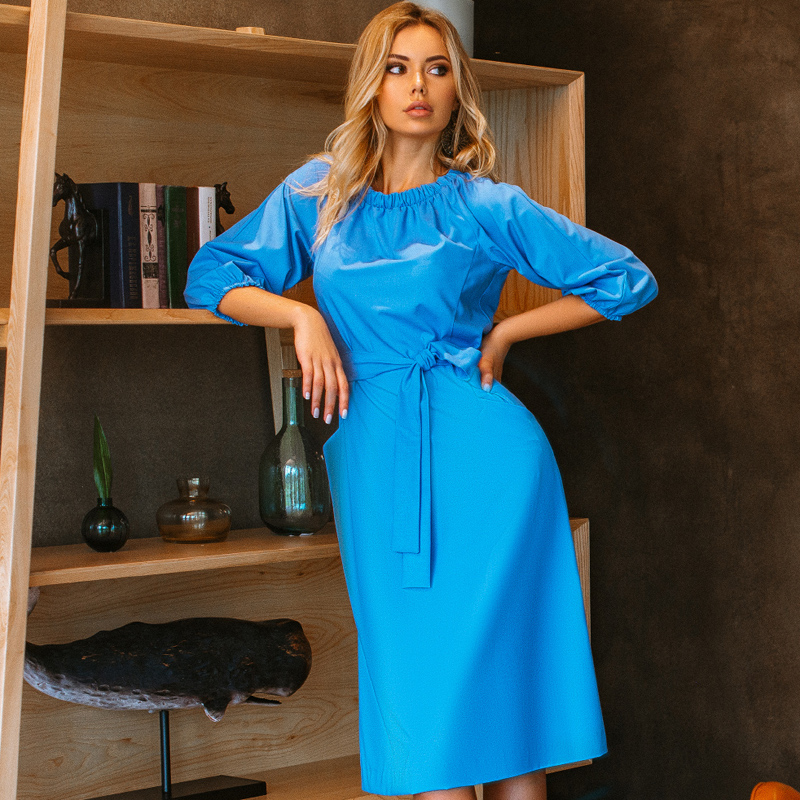 Dress BEZKO BE2076 Women's clothes women alluring scoop neck ruched asymmetrical backless women s dress