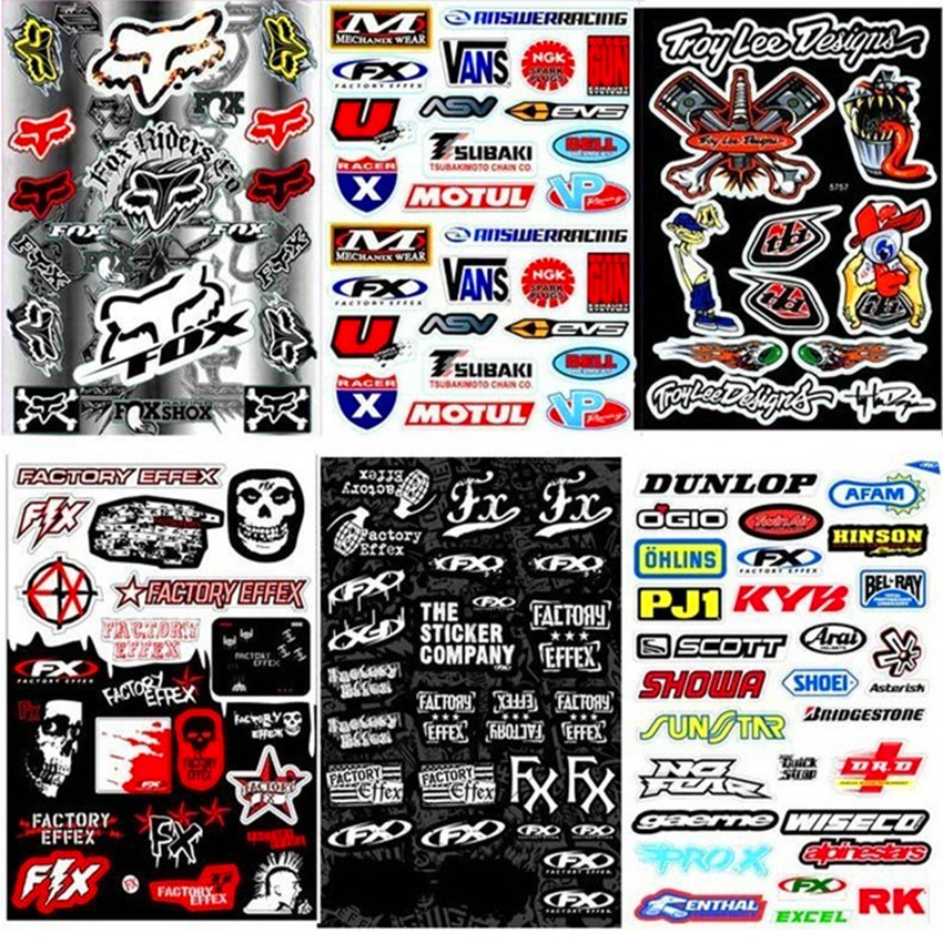 DIY Fashion 18cm x 30cm Rockstar Skull Monster Vinyl Stickers For Motorcycle BIKE CAR UNIT SCOOTER