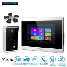 "HOMSECUR 7"" Video Door Entry Phone Call System+Outdoor Monitoring for Apartment  BC081+BM715 S"