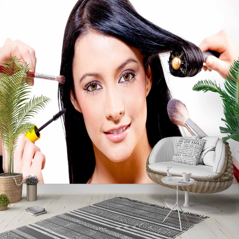 Else Hair Cares Make-up Women Hairdresser 3d Photo Cleanable Fabric Mural Home Decor Living Room Bedroom Background Wallpaper