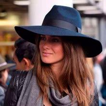 Morbida Lana Tesa larga Cappelli stile Fedora e borsalino Cappello df11a3adfb8d