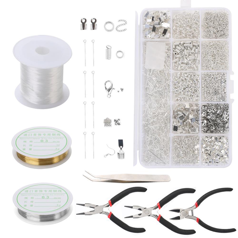 894bbe04f8f6 Cheap DIY artesanía decoración joyería hacer Kit pendientes de cuentas  collar pulsera accesorios con Juego de