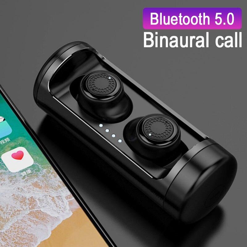 Hifi TWS sans fil Bluetooth 5.0 écouteurs IPX5 étanche écouteurs 3D stéréo casques double micro étui de charge écouteurs pour téléphone