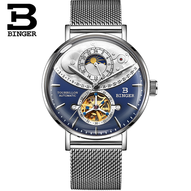 Swiss Brand Automatic Mechanical Full Steel Sapphire Watch 1