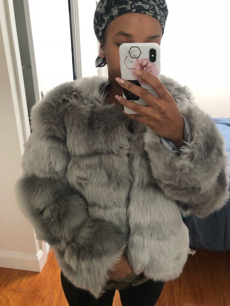 bd0b1bead6071 Autumn Vintage Fluffy Faux Fur Casual Party Winter Coat ...