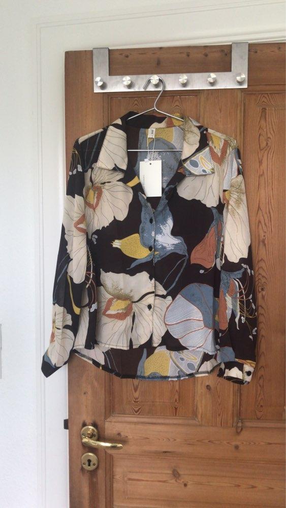 Spring  Female Boyfriend Chiffon Shirt Blouse Printing Korean Restore Flower Turn Down Collar Blusas Lady Boho Tops photo review