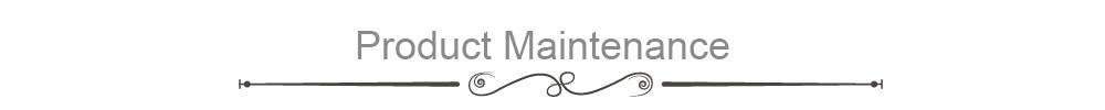 Product Maintenance