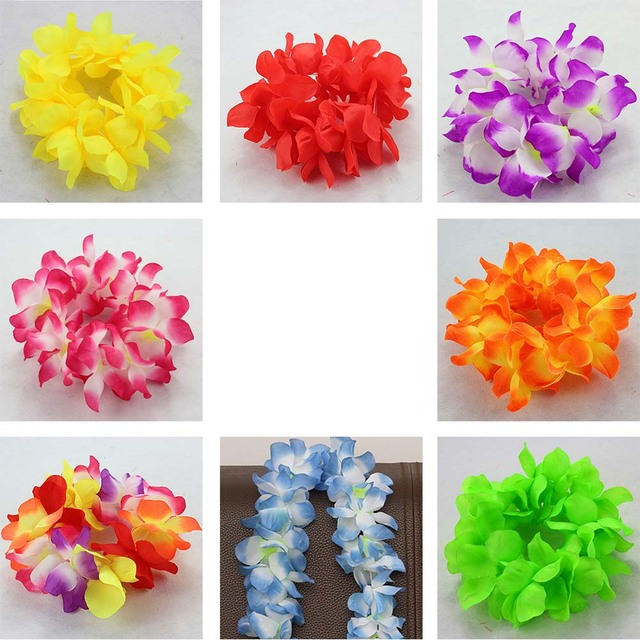 Artificial Flowers Fake Flower Headbands Hawaii Beach Wedding Party Decorations Flowers wreaths Event Party Supplies Adjustable