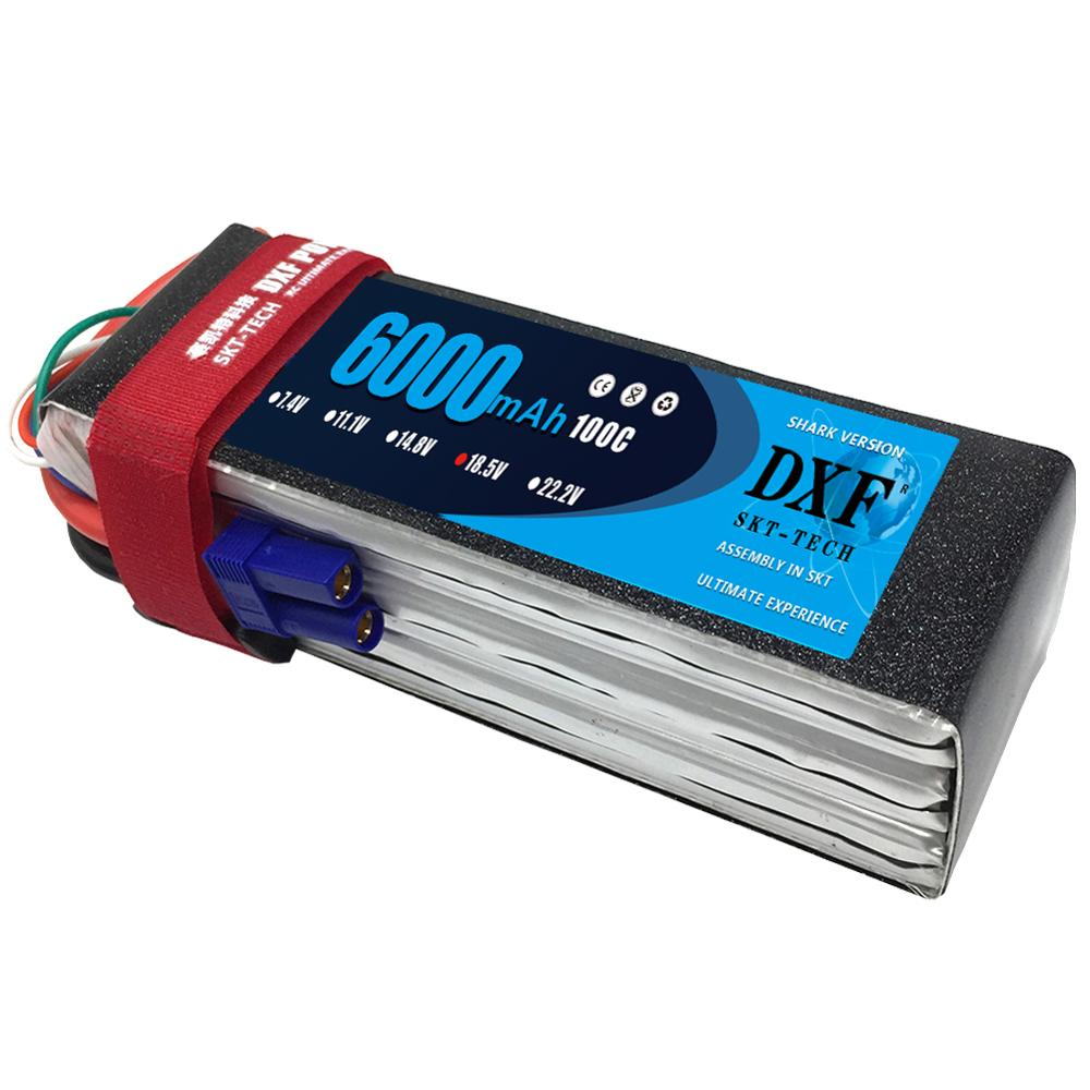 DXF Graphene <font><b>Lipo</b></font> <font><b>6S</b></font> 22.2V <font><b>6000mAh</b></font> Battery 100C High Discharger Rate Graphene Max 200C XT90 EC5 TRUCK For RC Car Boat Heli image