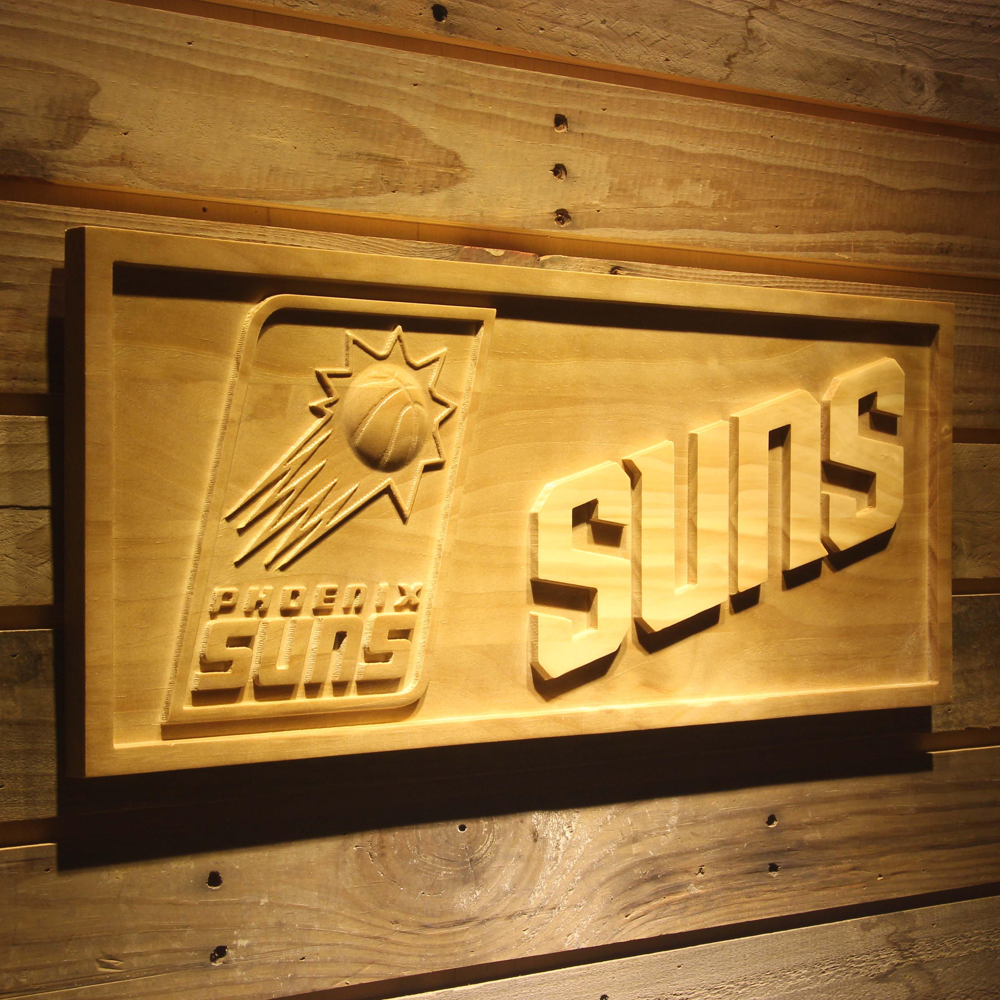 <font><b>Phoenix</b></font> Suns 3D Wooden Sign