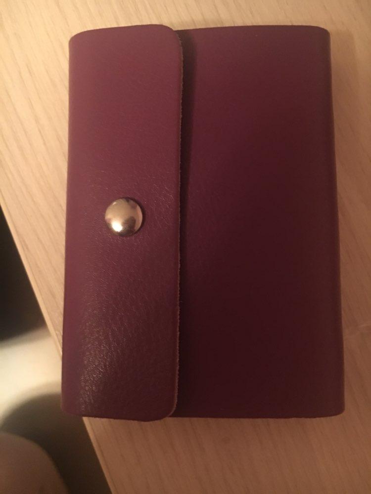 SMILEY SUNSHINE Genuine Leather Card Holder Business Bank Credit Card & id Holder Card Wallet Bag Case for men women porte carte photo review