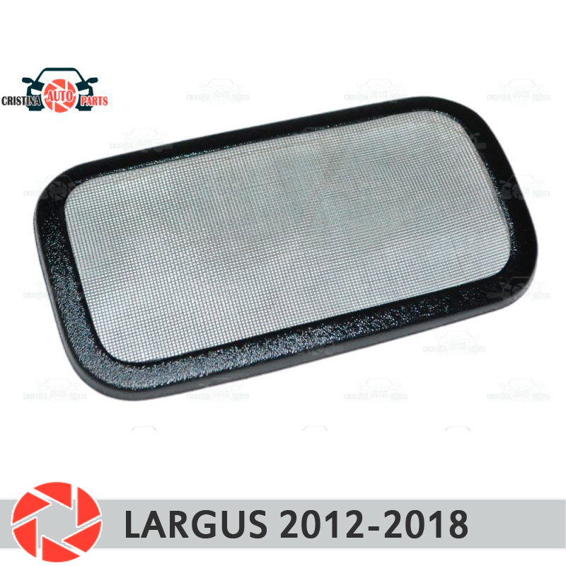 Filter mesh under jabot for Lada Largus 2012-2018 plastic ABS protection decoration embossed exterior car styling accessories