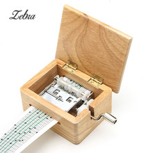 DIY Hand-cranked Music Box Wooden Box With Hole Puncher And Paper Tapes Musical Instrument Clarinet Harmonica Saxophone