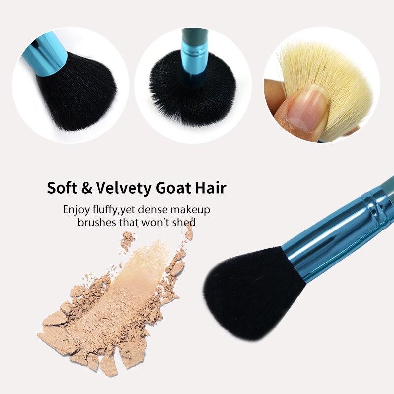 Princess Rose 12st Make Up Brush Set Makeup Brushes Kit Pinceis - Smink - Foto 3