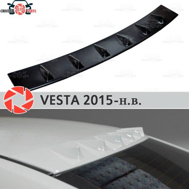 Спойлер для Lada Vesta 2015-зубчатый спойлер на заднее окно пластик ABS декорация тюнинг внешние запчасти аксессуары для автомобиля Стайлинг