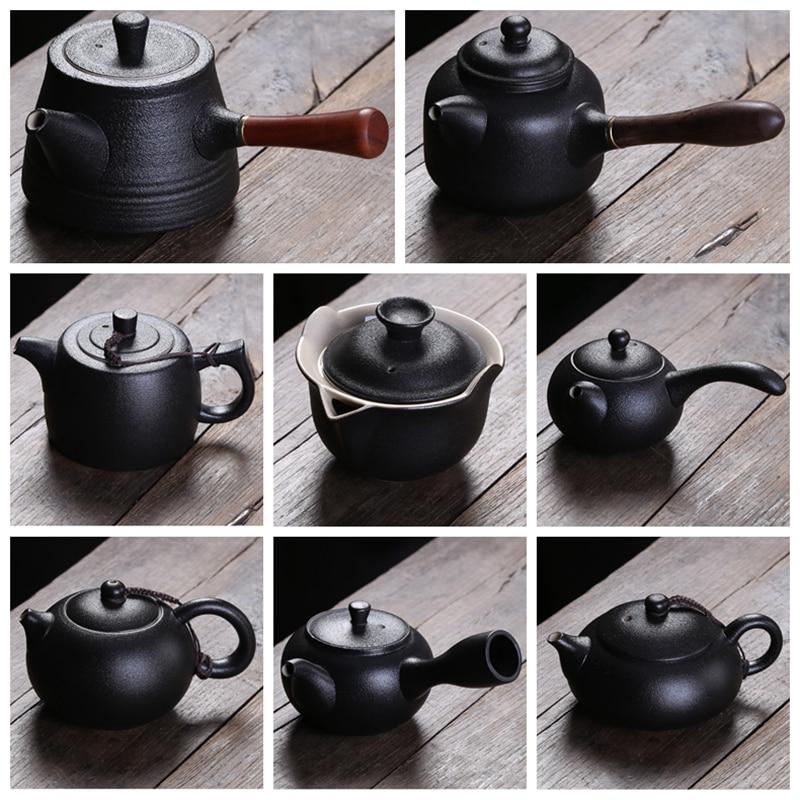 9 sortes de noir poterie théière (160-350 ml) de dehua Offre Spéciale Beauté chinois à la Main de style japonais en céramique Kungfu théière