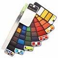 Дропшиппинг Акция 18/25/33/42 цветов сплошные акварельные краски в наборе с акварельной кистью ручка акварельный пигмент для рисования Художес...