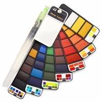 Прямая поставка, акция, 18/25/33/42 цвета, набор однотонных акварельных красок с акварельной кистью, ручка, акварельный пигмент для рисования, ис...
