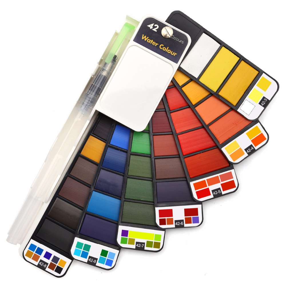 dainayw 42Colors Pigment Paints Set Solid Watercolor Set
