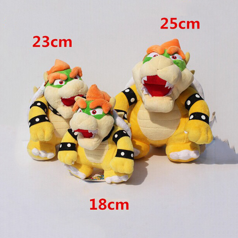 18-25cm 3Styles Optional Bowser Plush Super Mario Bros Bowser Koopa Stuffed Doll Soft Plush Doll Gift For Children Free Shipping