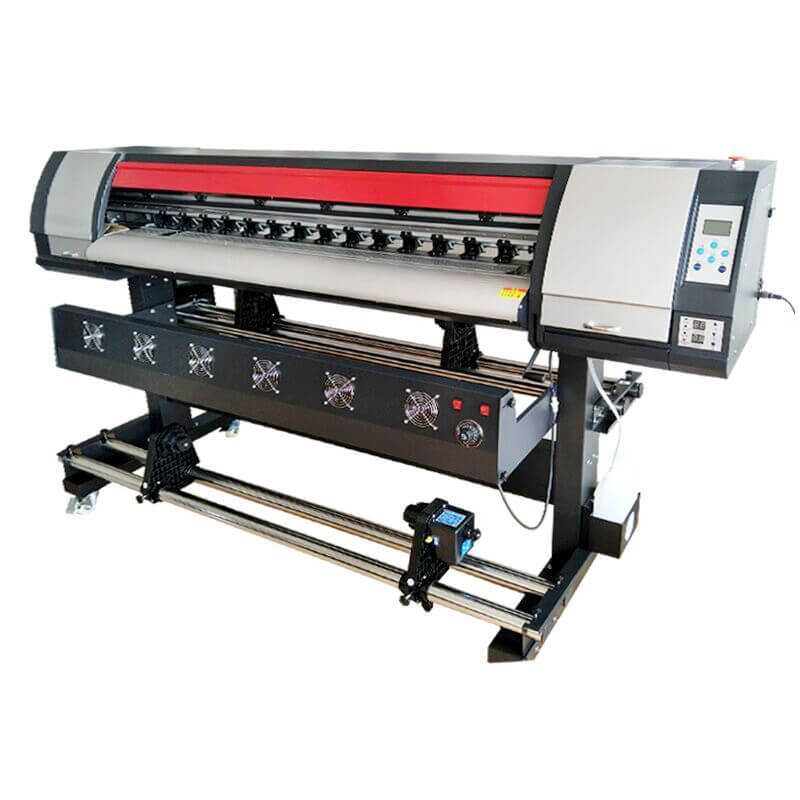 Cetak Kanvas Mesin Dx5 Kepala 1440 DPI Vinyle Plotter Adversting Poster 1600Mm Digital Ink Jet Eco Pelarut Printer Plotter