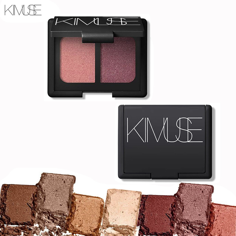 ᐊShimmer mate 2 colores sombra Polvos de maquillaje brillo de color ...
